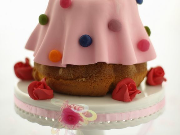 Marzipan-Coated Bundt Cake with Chocolate Candies