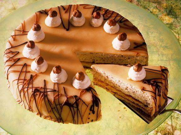 Marzipan Hazelnut Sponge Cake
