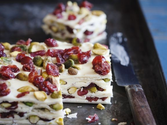 Marzipan, Nut and Fruit Squares