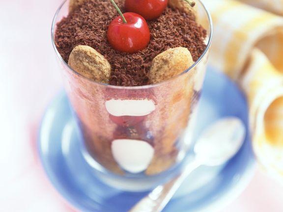 Mascarpone Cream with Cherries