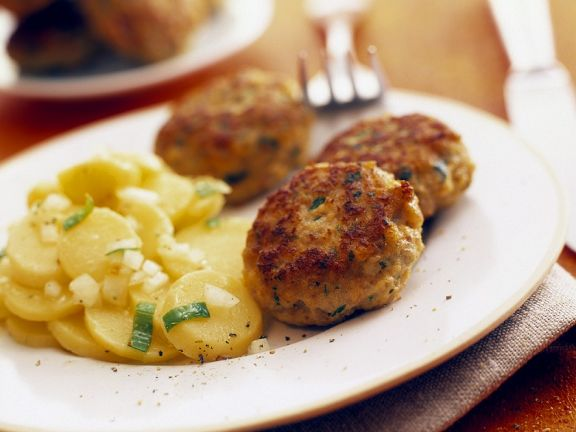 Meat Patties with Potato Salad