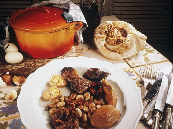 Meat Stew with Beans (tscholent)