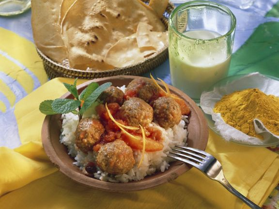 Meatball Curry with Rice