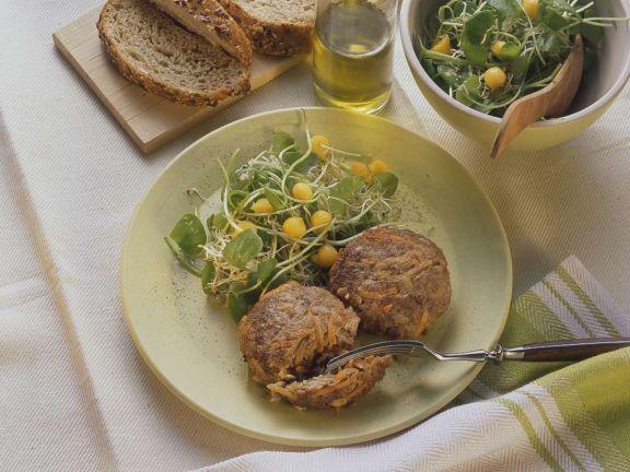 Meatballs with Watercress Salad