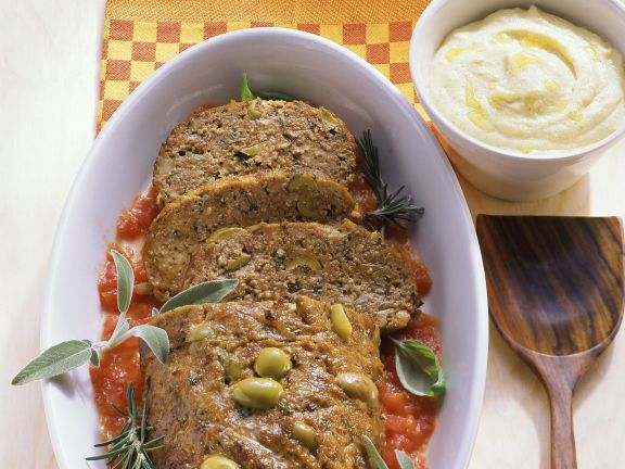 Meatloaf with Anchovies and Olives