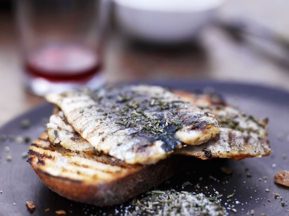 Med-style Fish on Toast