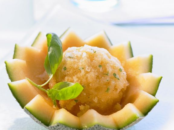 Melon and Basil Sorbet