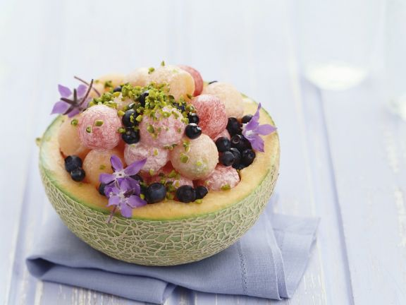 Melon Filled with Pistachios