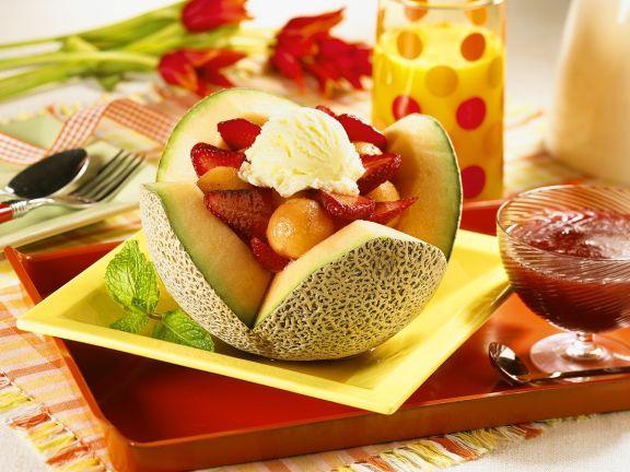 Melon-Strawberry Salad