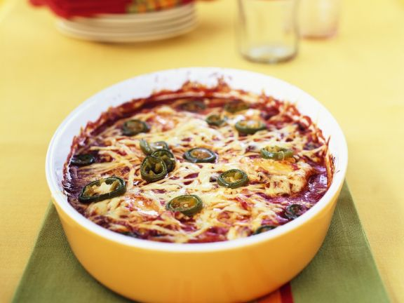 Mexican Chicken Casserole with Chile Peppers