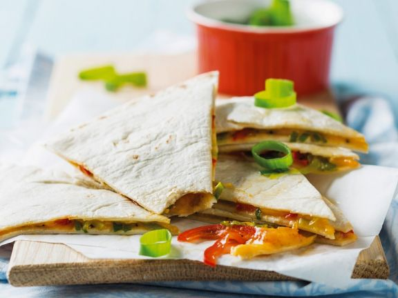 Microwave Cheese Quesadillas