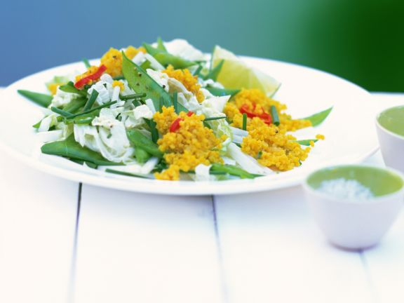 Millet Salad with Chinese Cabbage and Snow Peas