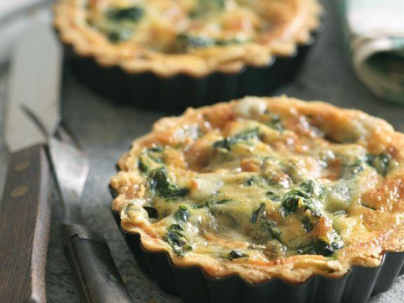 Mini Gorgonzola and Spinach Quiches