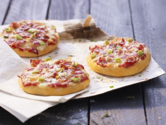 Mini Ham and Cheese Pizzas