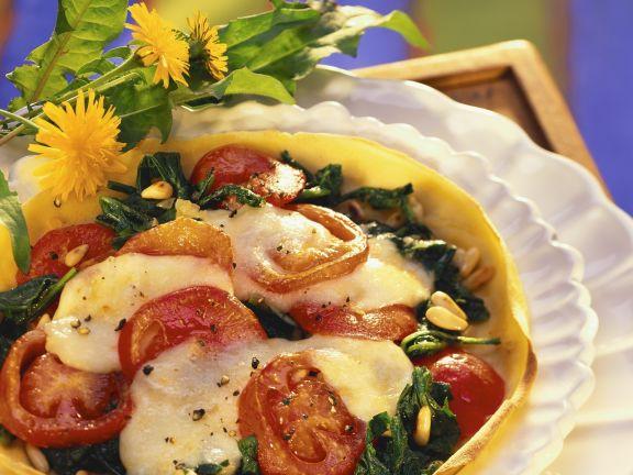 Italian Tricolore Crepe