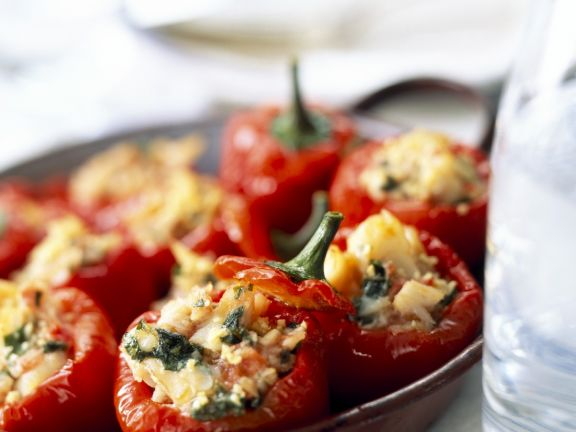 Mini Peppers with Fish Filling
