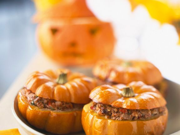 Mini Pumpkins Filled with Ground Beef