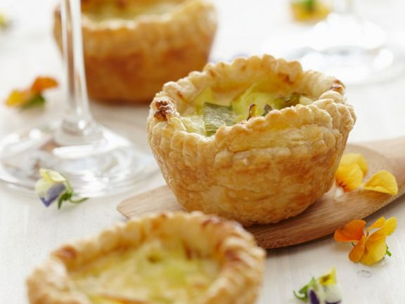 MIni Quiche with Leeks and Parmesan