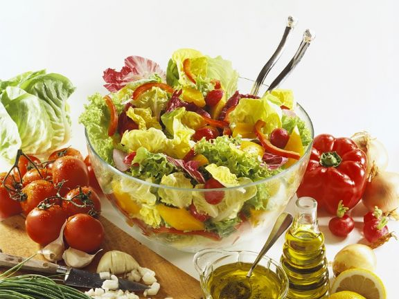Mixed Greens Salad with Peppers