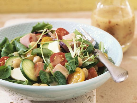 Mixed Salad with Honey Mustard Dressing