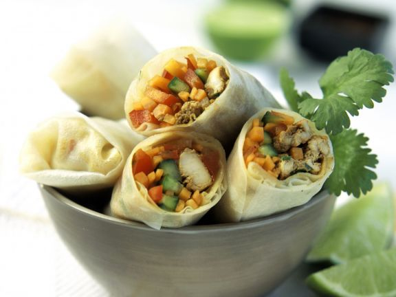 Mixed Veg and Chicken Wraps