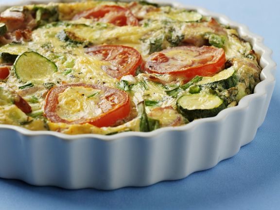 Mixed Vegetable Quiche with Pepitas
