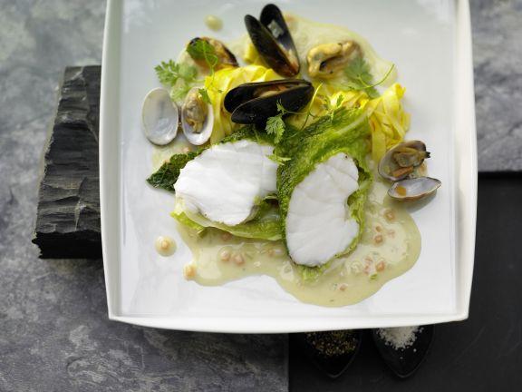Monkfish in Savoy Cabbage
