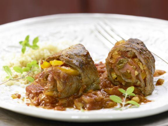 Moroccan-Style Beef Roulades