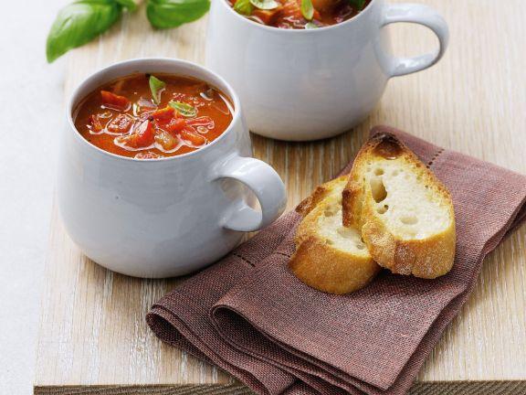 Mugs of Tomato and Veg Broth