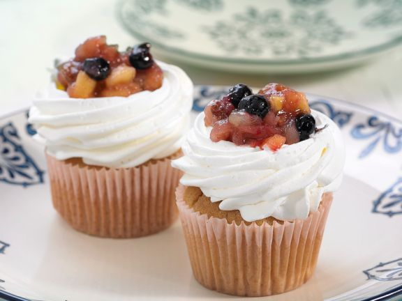 Mulled Fruit Cupcakes