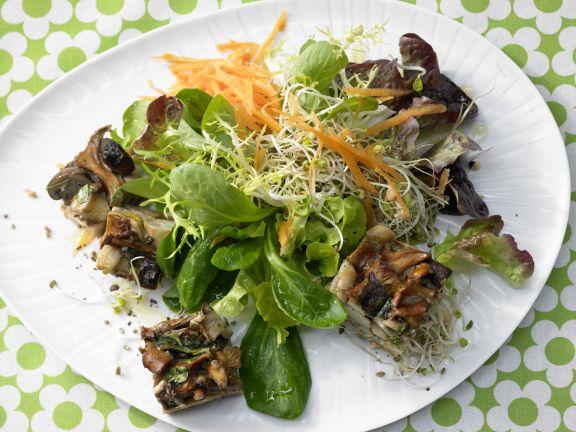 Mushroom Gratin on Sprout Salad
