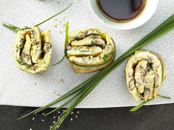 Mushroom Omelette Rolls