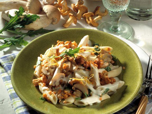 Mushroom Pasta with Lemon Sauce