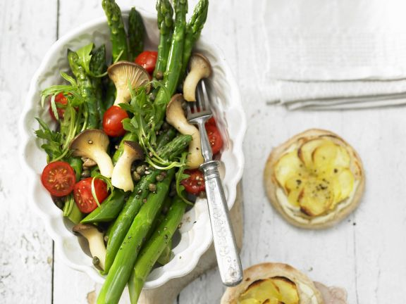 Mushrooms with Tomato and Asparagus