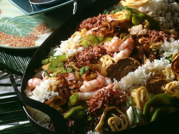 Nasi Goreng with Two Rices