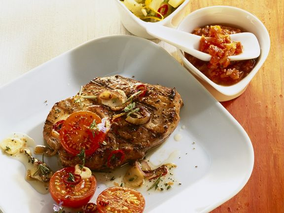 Neck Steaks with Salsa
