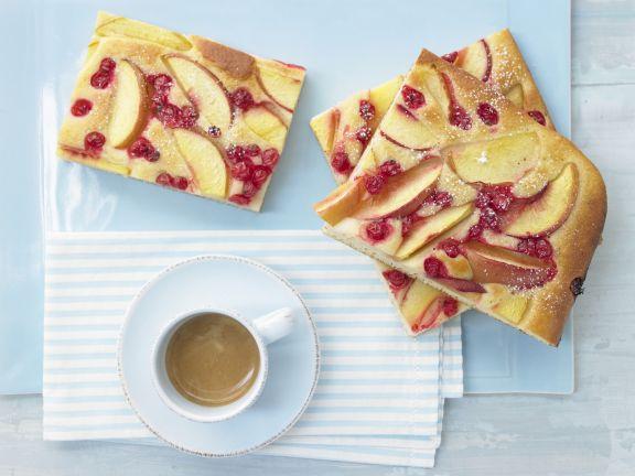 Nectarine Currant Cake
