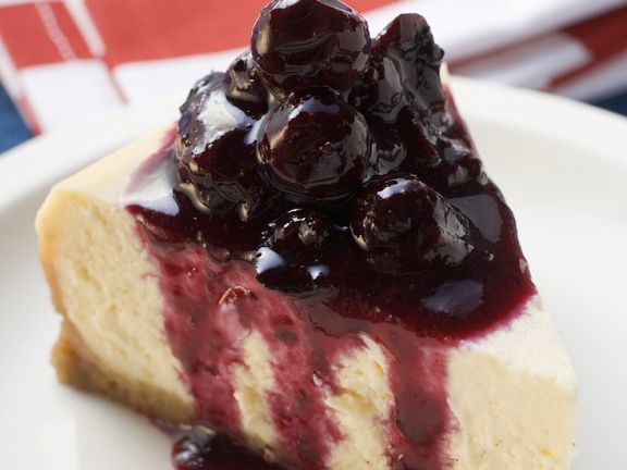 No Bake Cheesecake with Blueberries