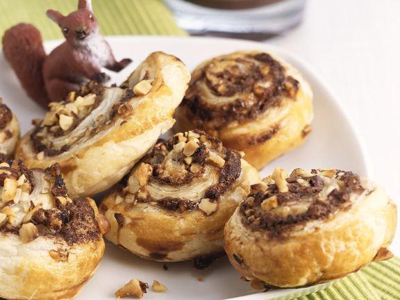 Nut and Plum Butter Pinwheels