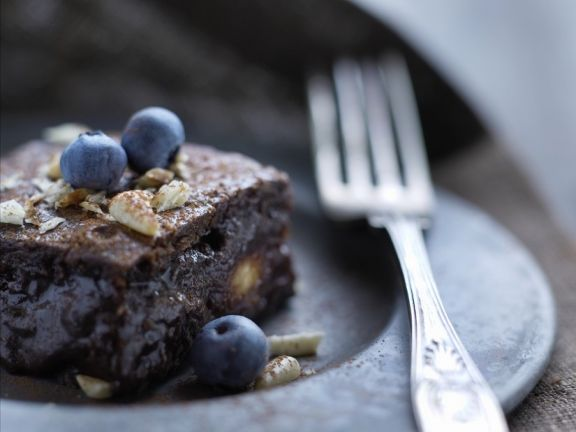 Nutty Blueberry Brownies