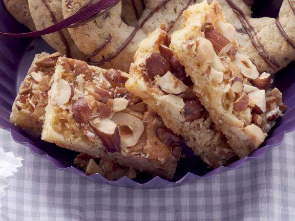 Nutty Cake Bars
