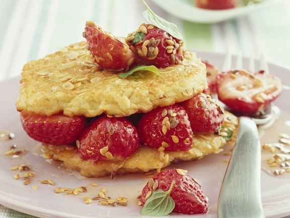 Oat Pancakes with Strawberries