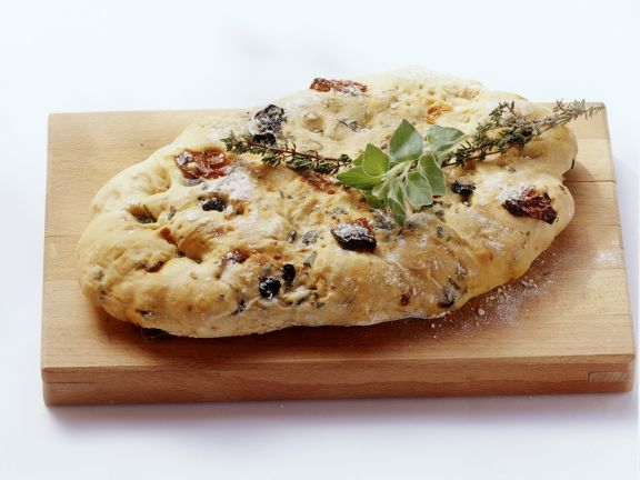 Olive and Sundried Tomato Focaccia