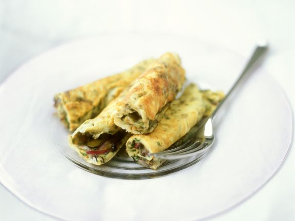 Omelet with Onions and Olives