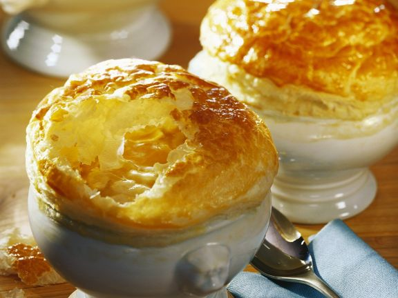 Onion Soup with Puff Pastry