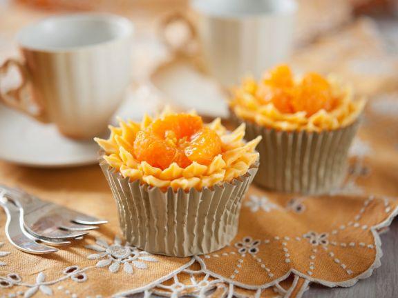 Orange Flower Cupcakes