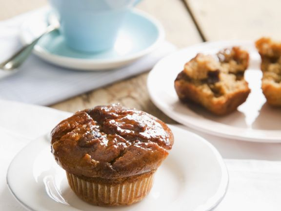 Orange Glazed Choc Chip Muffins