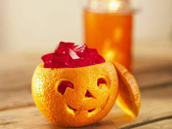 Orange Lantern with Jello