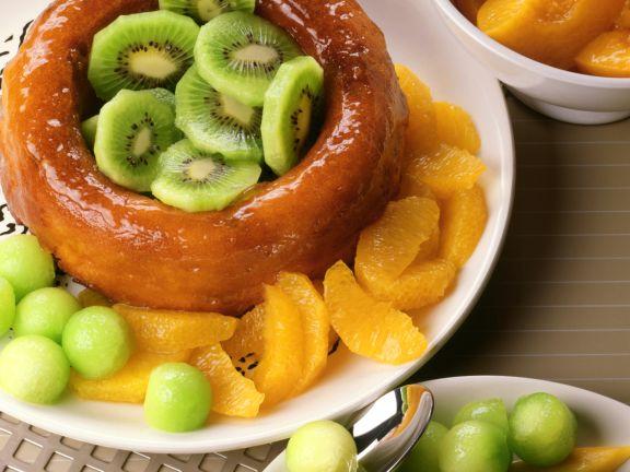 Orange Rum Cake with Fresh Fruit