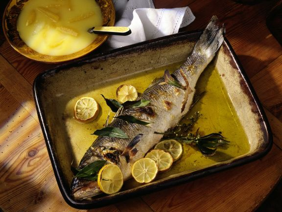 Oven-roasted Sea Bass with Lemon